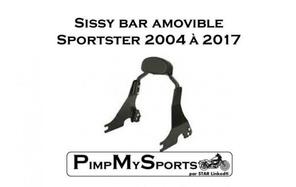 Sissy bar amovible pour Harley Davidson Sportster