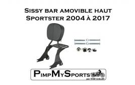 "Sissy bar amovible noir ""Confort"""