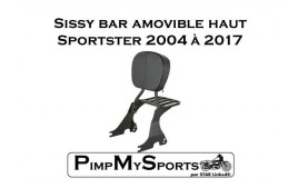 "Sissy bar noir ""Confort"" sans kit d'installation"