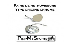 Retroviseurs chrome type origine