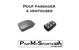 Pouf passager a ventouse harley davidson SPortster IRON Forty eight vue générale