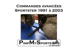 1991/03 Commandes avancées SPORTSTER Noires