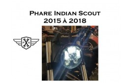 Phare à LED Indian Scout / Bobber / Sixty 2015 à 2019