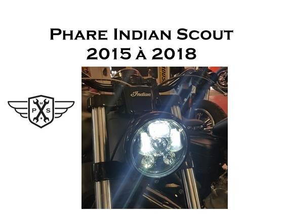 phare led indian scout 2015 2018. Black Bedroom Furniture Sets. Home Design Ideas
