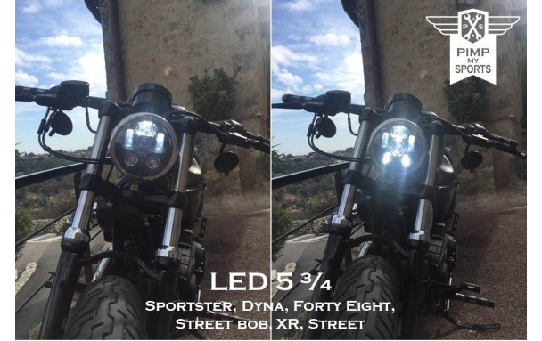 Accessoire Sportster phare à LED 5 3/4 1200CX