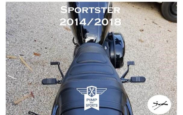 Commandes avancées SPORTSTER 2014 à 2017 Noires vue d ensemble