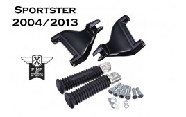 Kit repose pieds passagers Harley Davidson Sportster 2004 à 2013 forty eight