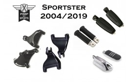 Kit repose pieds passagers Harley Davidson Sportster 2004 à 2019 forty eight