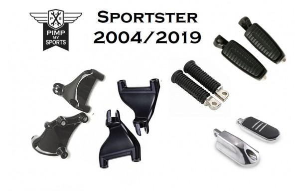 Kit repose pieds passagers Sportser 2004 à 2013