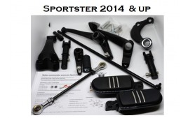 Sportster forward controls 2014/ 17 Black