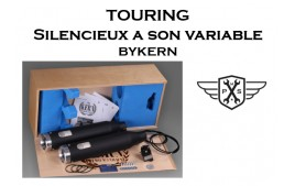 Silencieux homologués TOURING BYKERN a son variable
