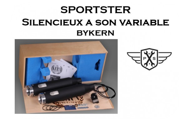 Silencieux homologués Sportster BYKERN a son variable