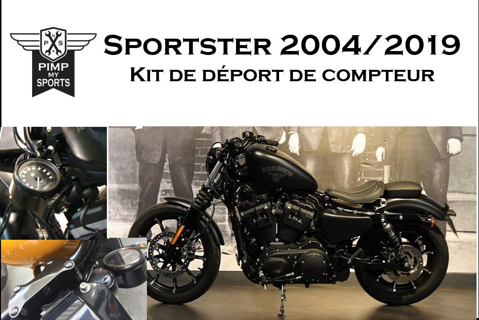 Support de compteur déporté Harley Davidson Sportster