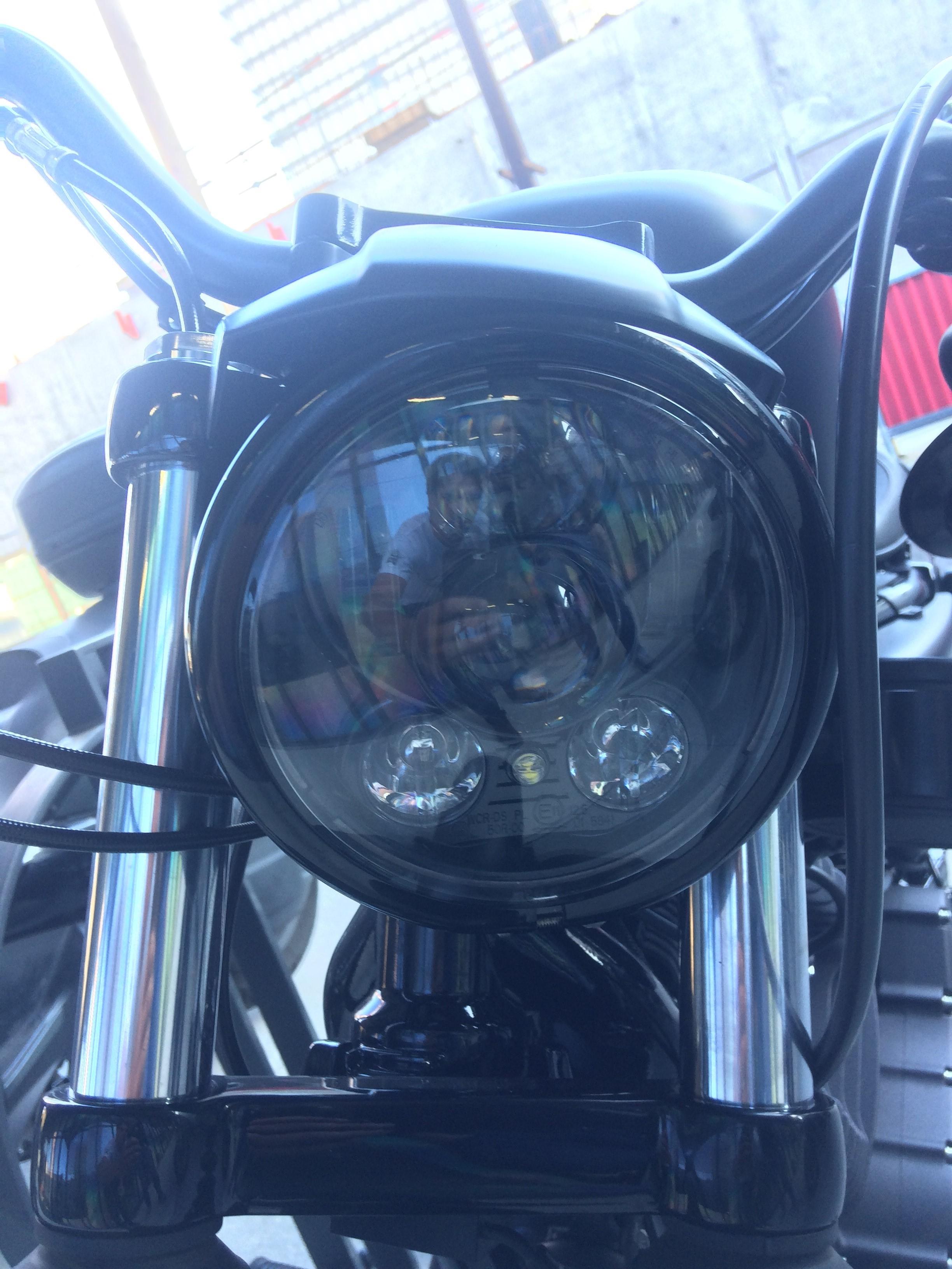 cerclage de phare noir Sportster Harley Davidson