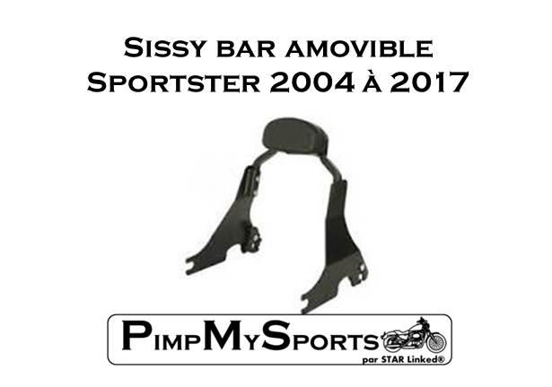 Sissy bar Sportster Noir